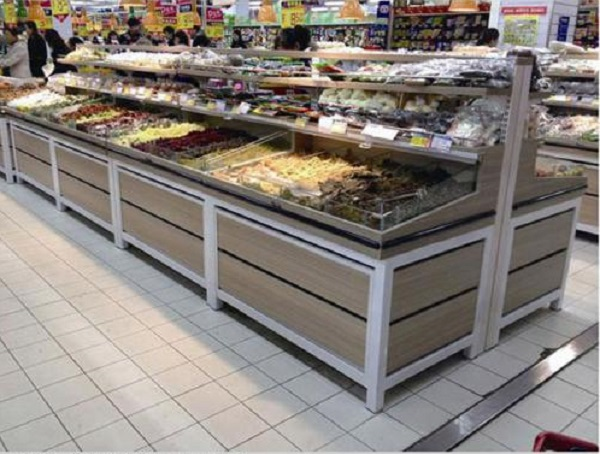 How to design the flow chart of supermarket shelves?